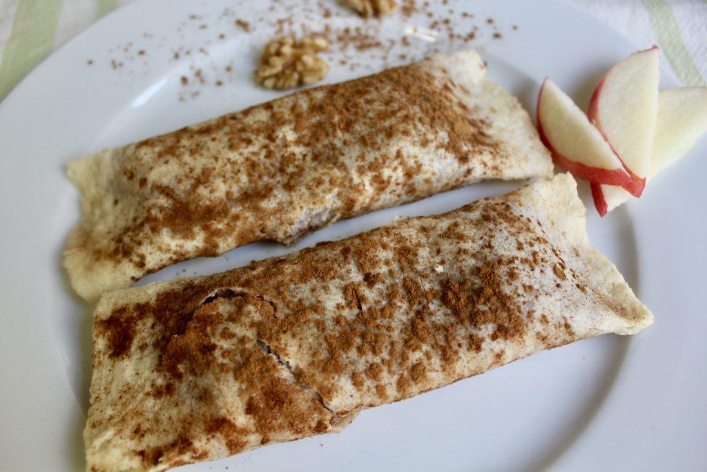 Easy Apple Pie Burrito
